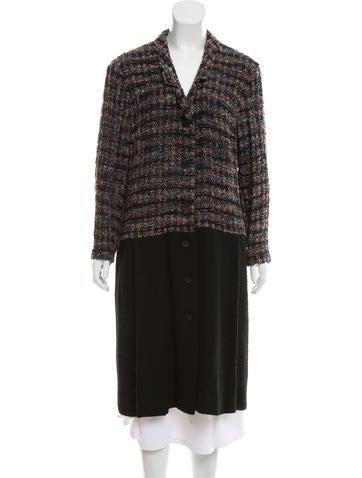 Chanel Wool-Blend Bouclé Coat None