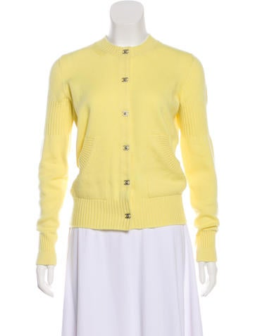 Chanel Belted Cashmere Cardigan None