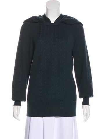 Chanel Cashmere & Silk Cable Knit Sweater None