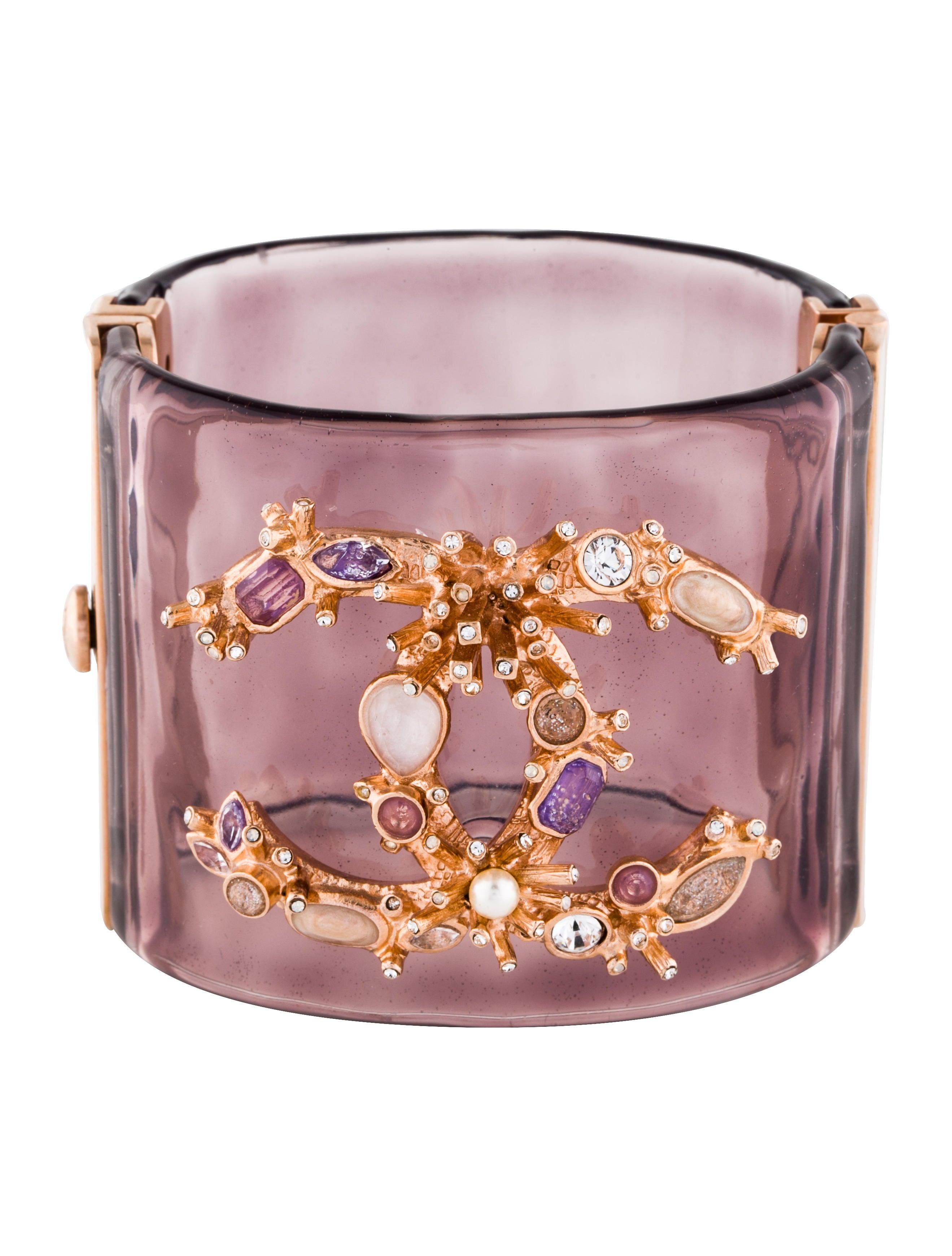 927bf76e1b9 Chanel Crystal CC Resin Cuff - Bracelets - CHA247921