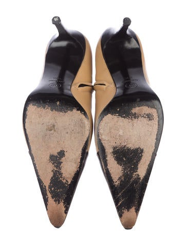 Leather Pointed-Toe Ankle Boots