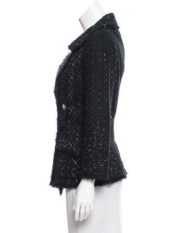 Ribbon Lessage Tweed Jacket