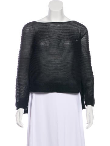 Chanel Knit Metallic Sweater None