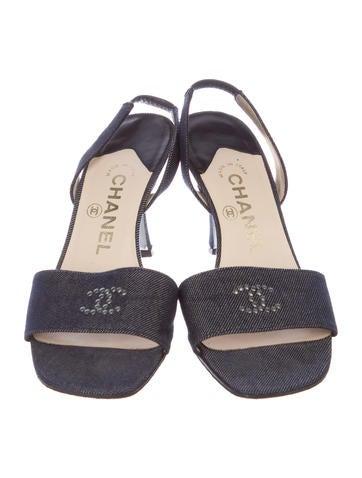Denim CC Slingback Sandals