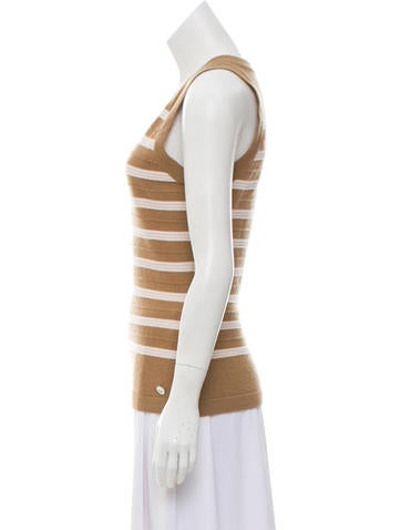 Striped Cashmere Top w/ Tags