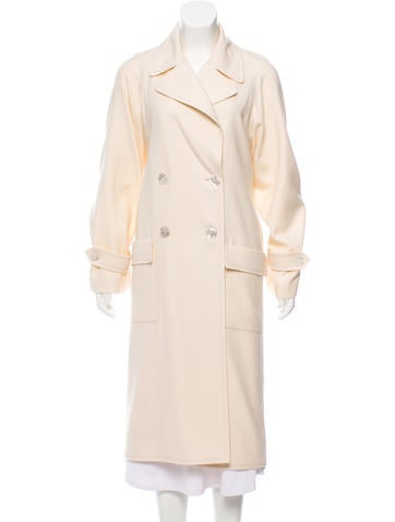 Chanel Wool Double-Breasted Coat None