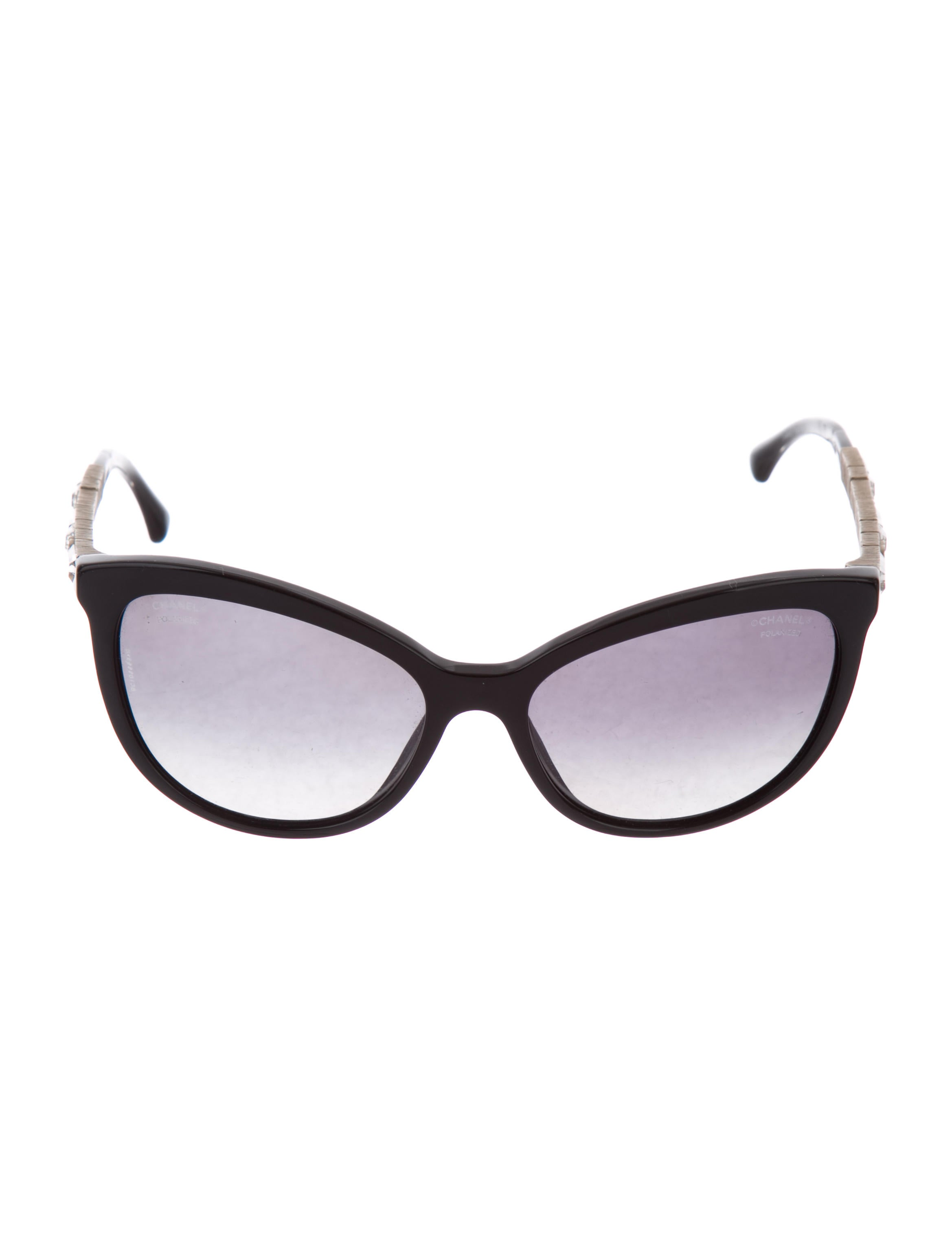 19b82424d1 Chanel Polarized Bijou Cat-Eye Sunglasses - Accessories - CHA269368 ...