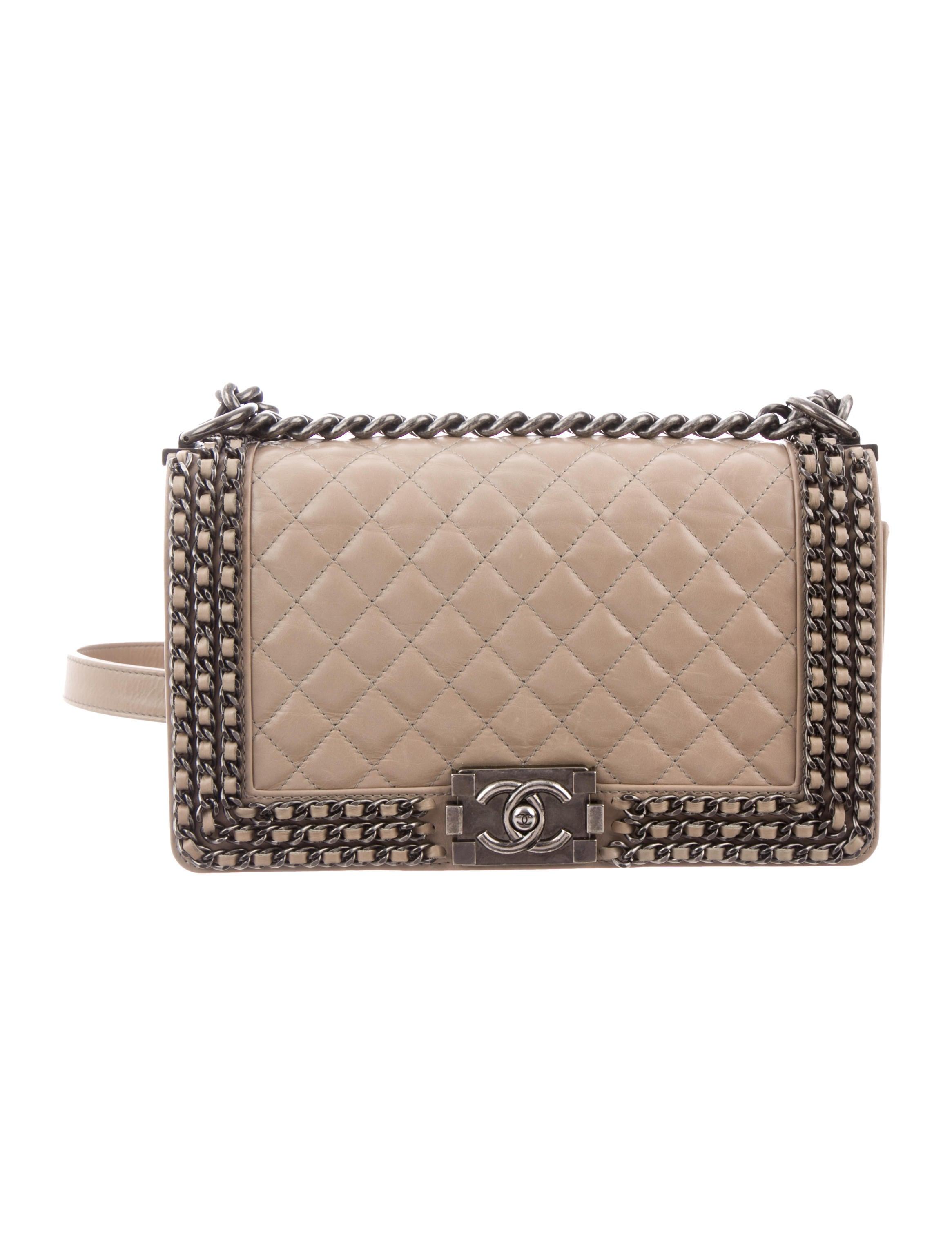 30657d2e190068 Chanel Chained Medium Boy Bag - Handbags - CHA271670   The RealReal