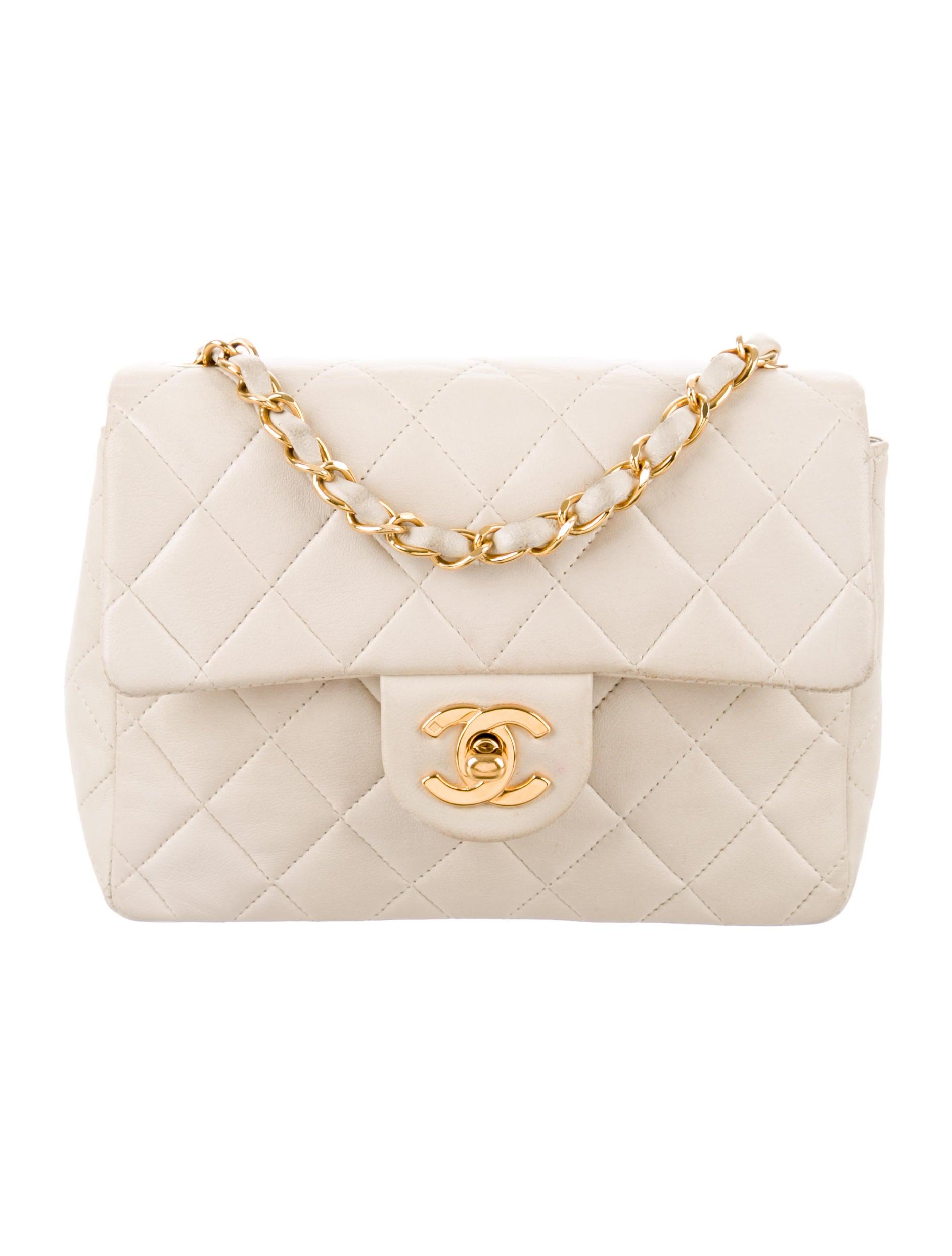4e51316ffd420c Chanel Vintage Classic Mini Square Flap Bag - Handbags - CHA273855 ...