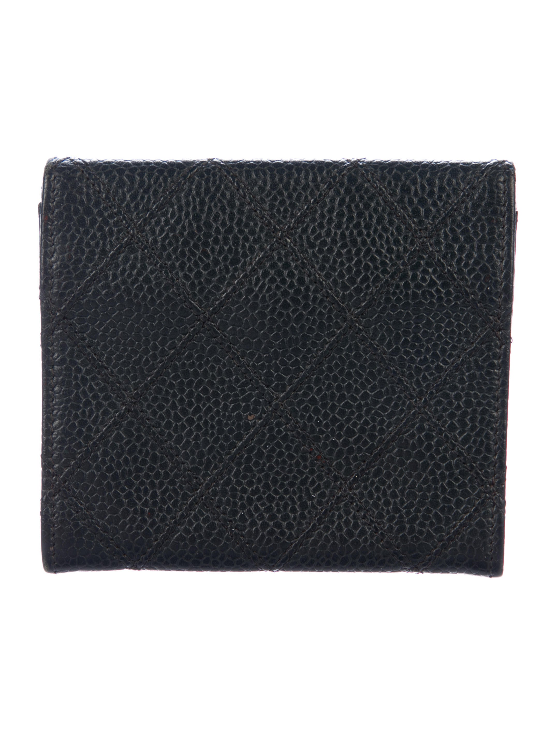 Chanel Vintage Quilted Business Card Holder Accessories