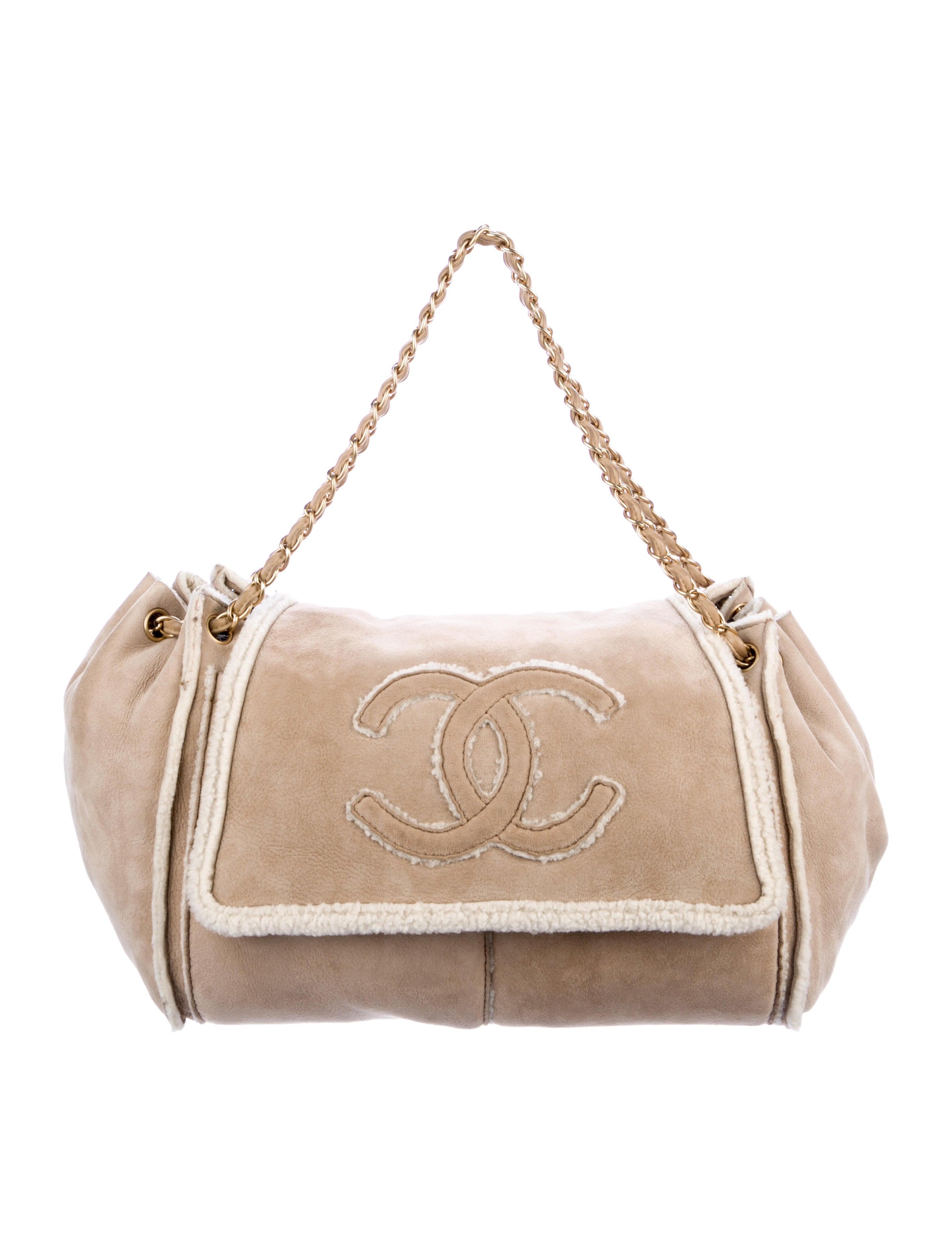 3aa913460522be Chanel Shearling Small Accordion Flap Bag - Handbags - CHA281600 ...