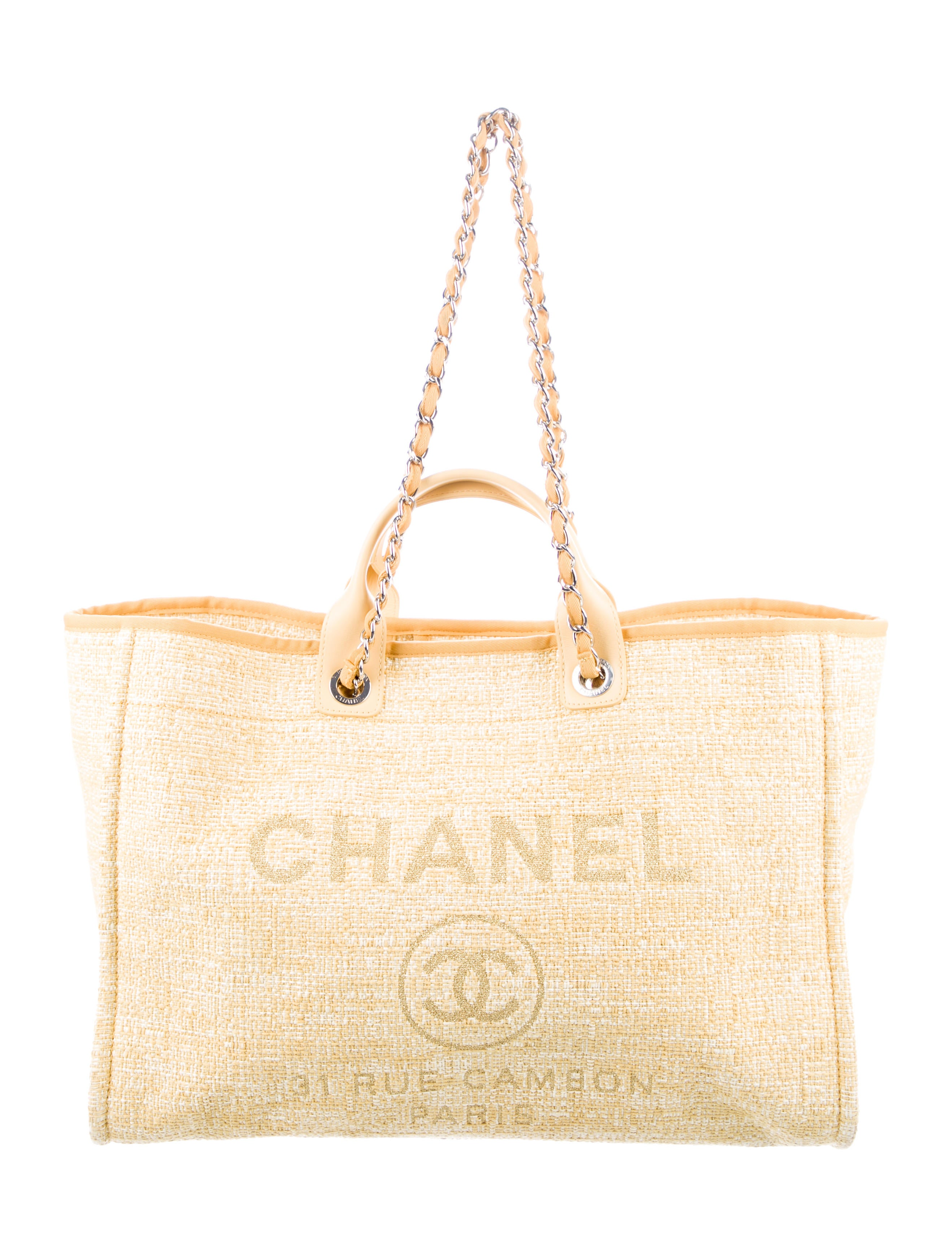 00e437543c5d83 Chanel 2018 Large Deauville Shopping Tote - Handbags - CHA286238 ...