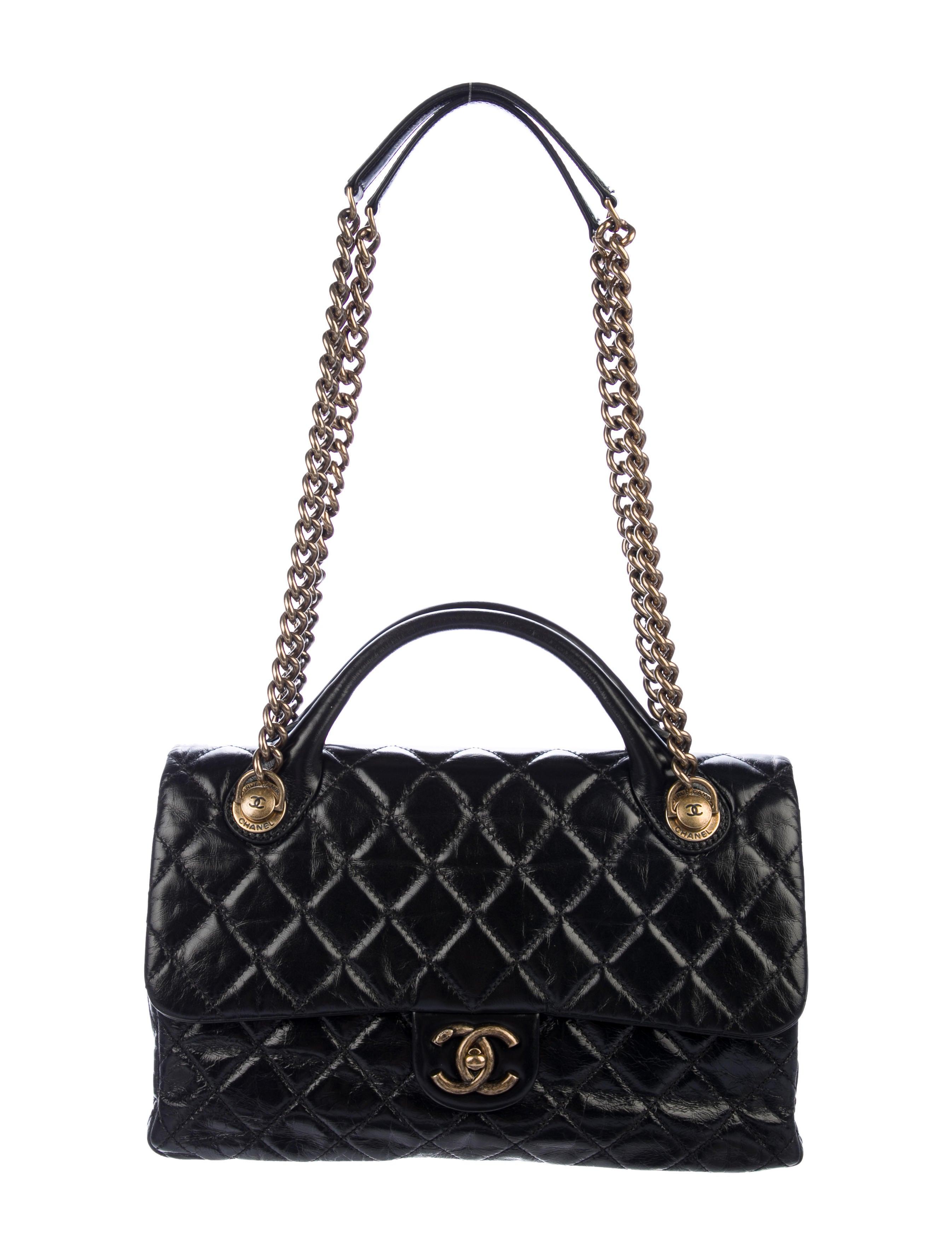 75b5324c616e Chanel Medium Castle Rock Flap Bag - Handbags - CHA287132 | The RealReal