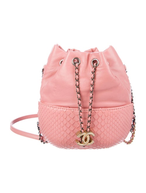 57dc73049240b1 Chanel 2017 Small Python Gabrielle Purse Bag - Handbags - CHA290753 ...