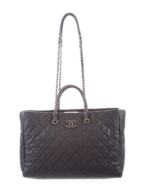 08236e550a7bc4 Chanel 2017 Lizard-Trimmed Coco Handle Tote - Handbags - CHA298236 ...