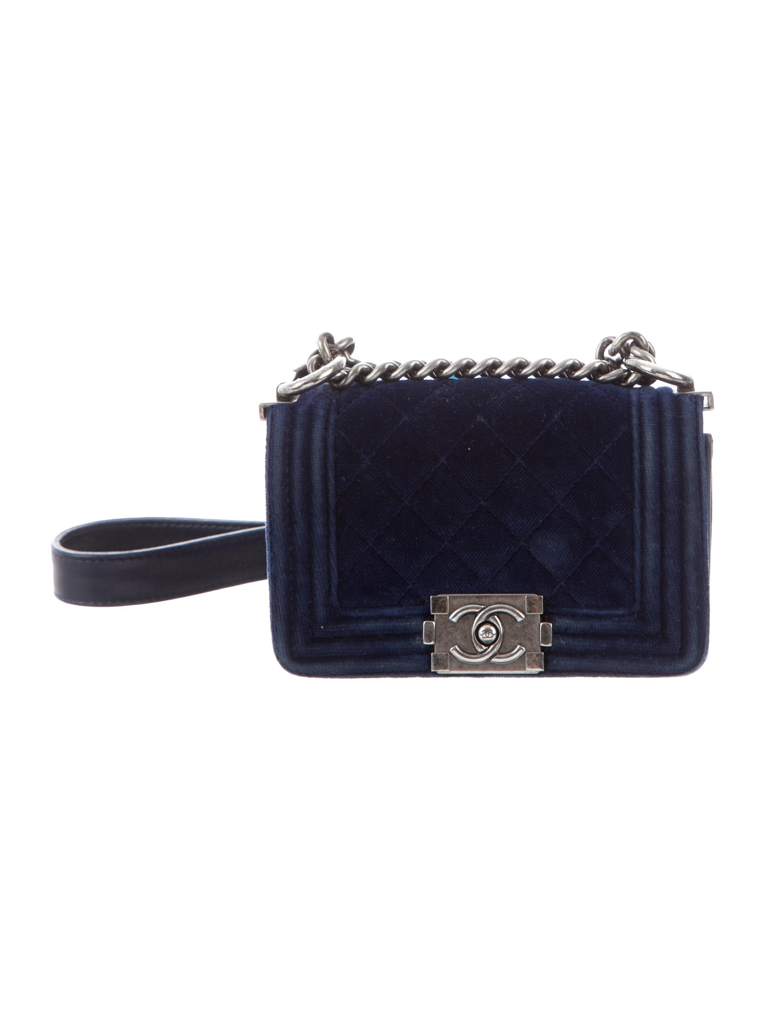 94c987ff183b Chanel Mini Velvet Boy Bag - Handbags - CHA298255 | The RealReal