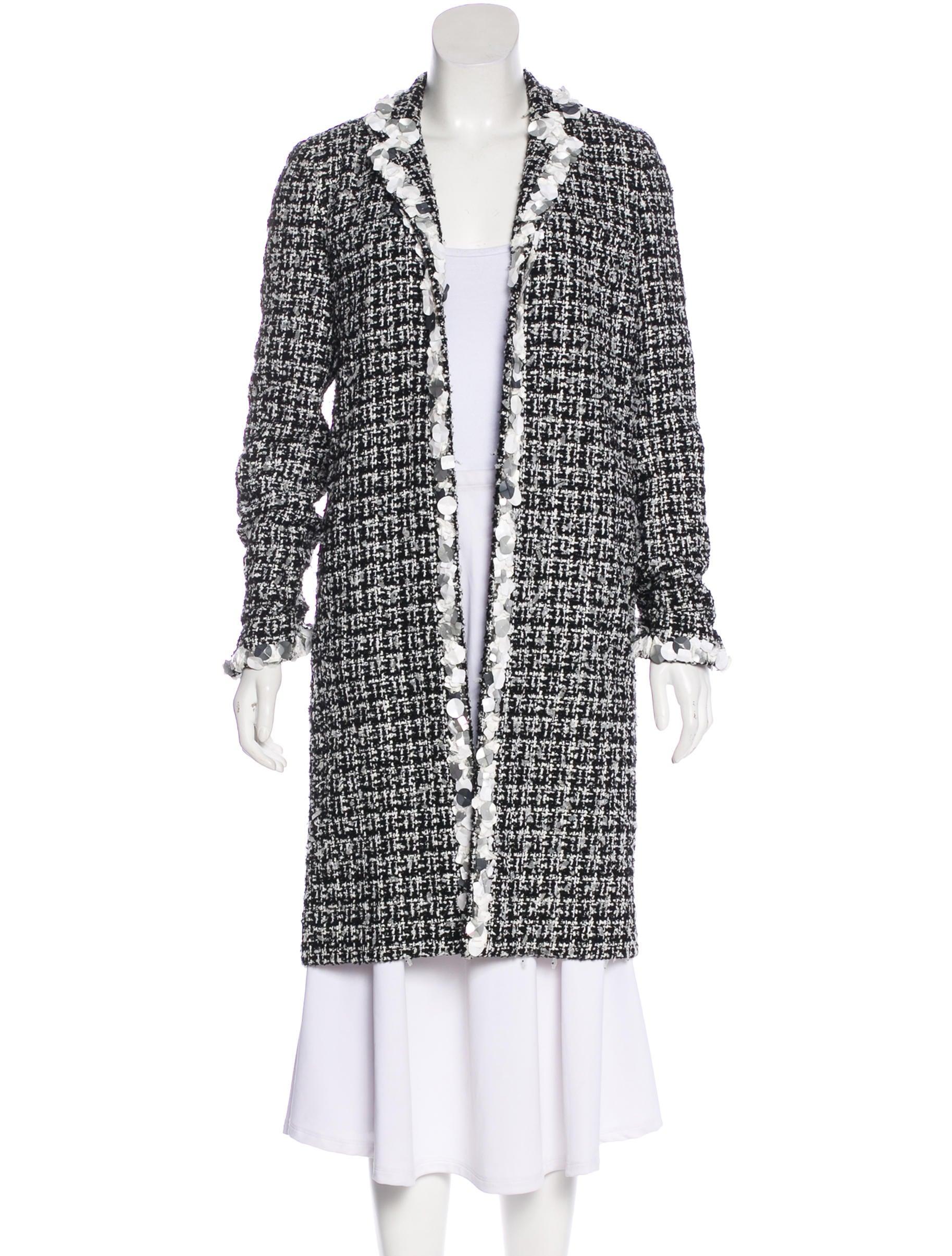 Embellished Tweed Coat by Chanel