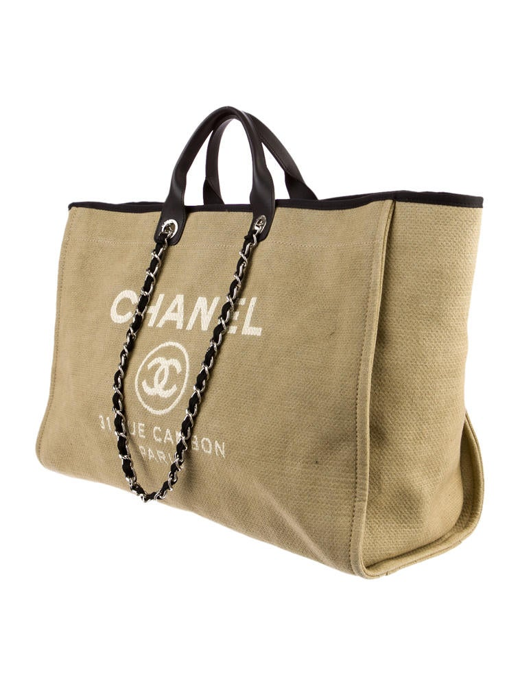 Chanel Large Grocery Shopping Basket W Tags: Chanel Deauville Extra Large Tote
