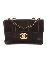206bb96b4863 Chanel Vintage Vertical Jumbo Single Flap Bag - Handbags - CHA301243 ...