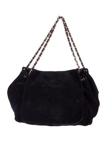 Suede Accordion Shoulder Bag