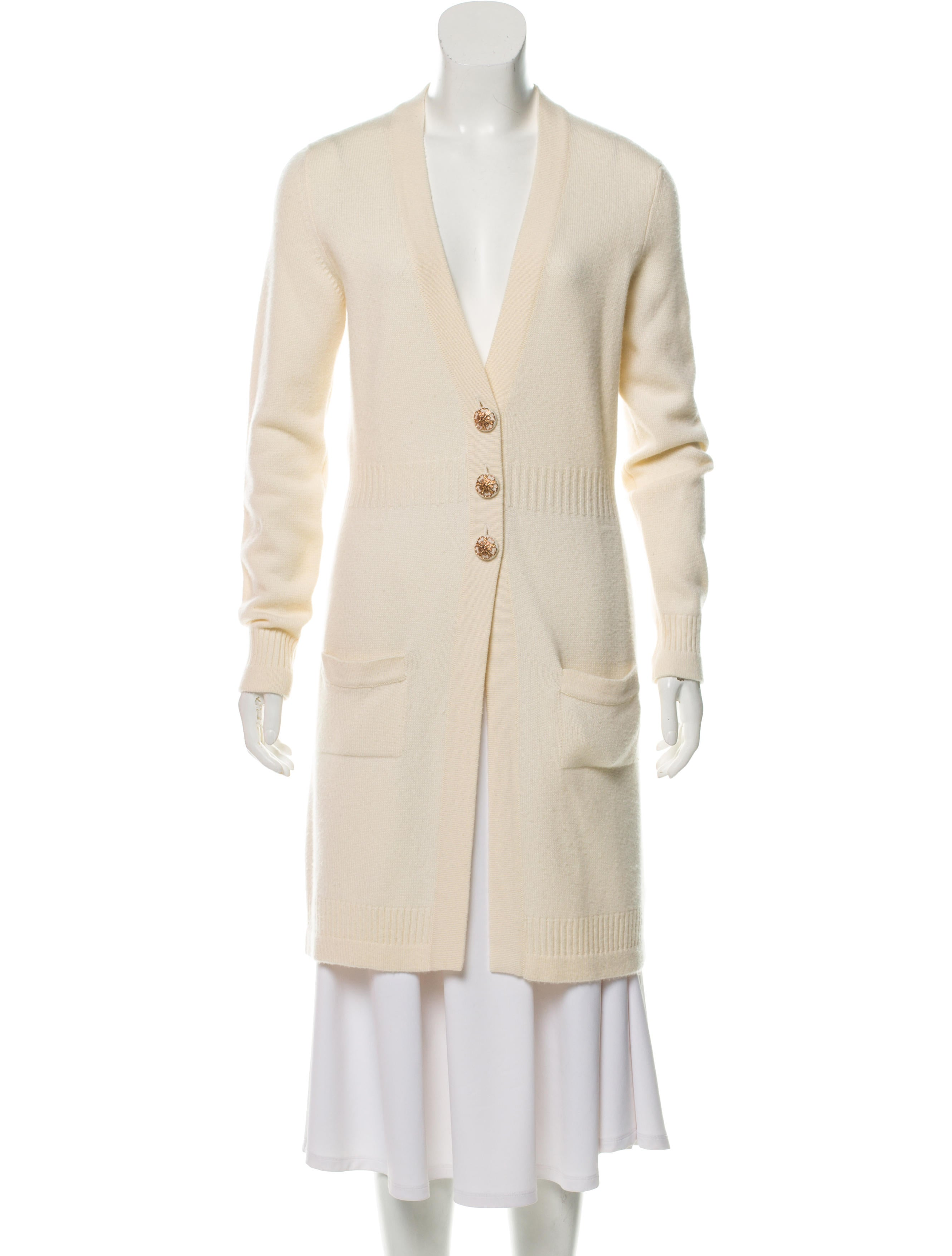 Cashmere Longline Cardigan by Chanel