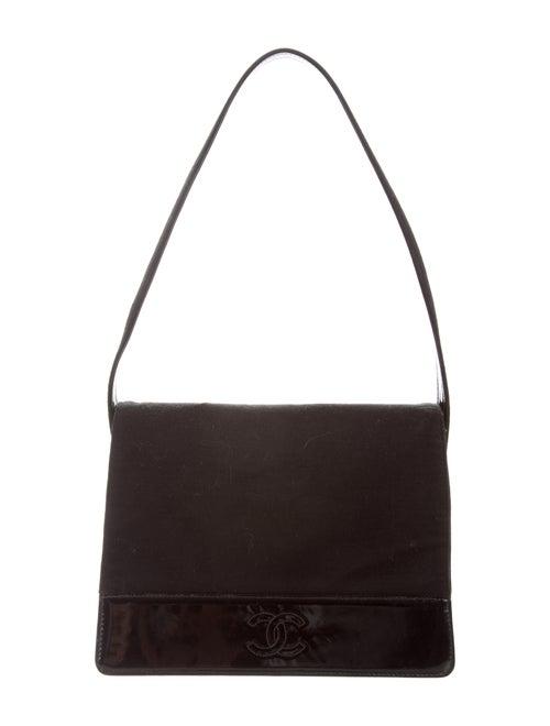 269c29c87cdb Chanel Vintage Jersey Patent-Trimmed Flap Bag - Handbags - CHA303894 ...