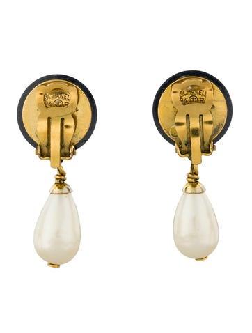 Pearl CC Drop Earrings