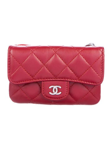 c21c4a889b93 Chanel. Quilted Lambskin Compact Wallet
