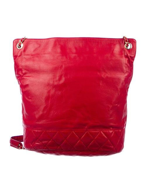 Chanel Vintage Shoulder Bucket Bag Red