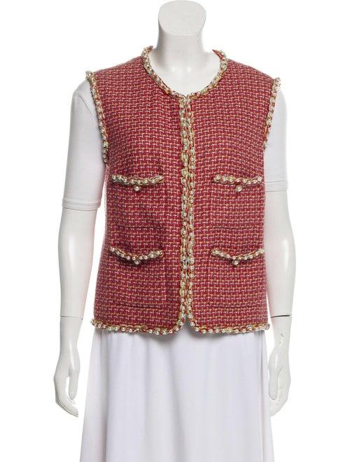 Chanel 2017 Embellished Tweed Vest multicolor