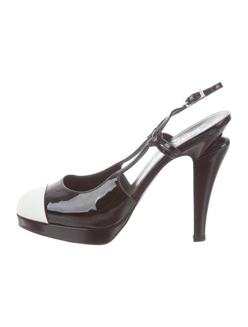 3dda80b8886 Chanel Cap-Toe Patent Leather Pumps - Shoes - CHA309777