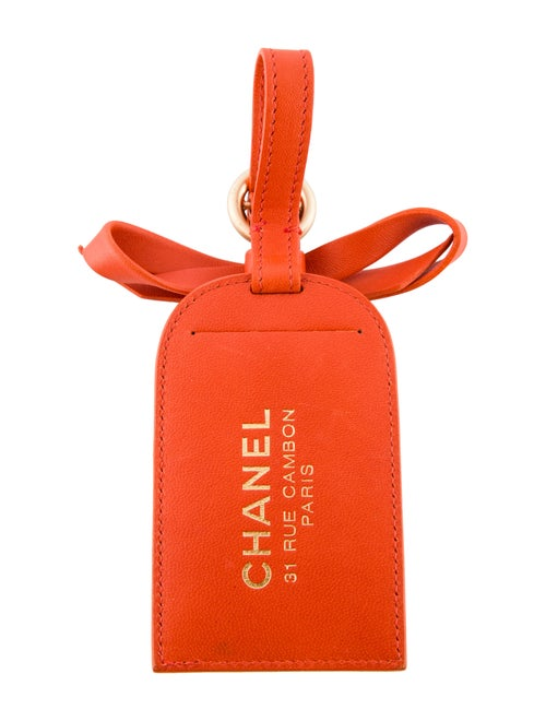 e5314debd04d Chanel Leather Luggage Tag - Accessories - CHA312045 | The RealReal