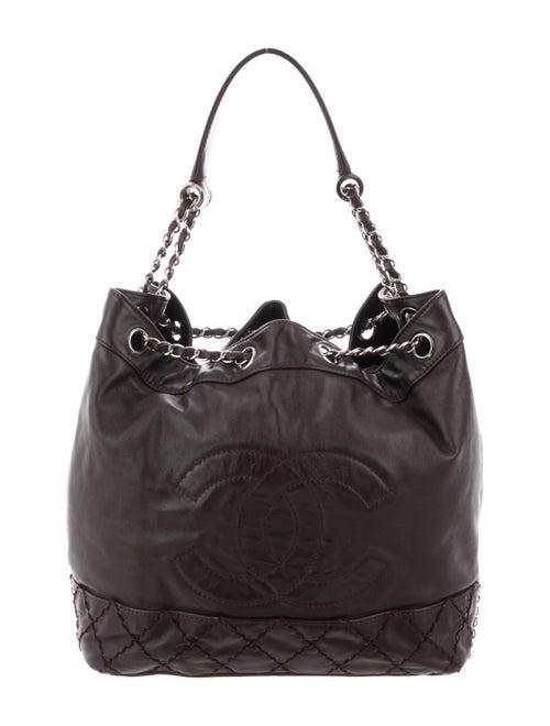 9e38ba68f76a Chanel Surpique Drawstring Bucket Bag - Handbags - CHA314068   The ...