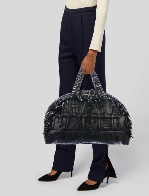 61745e2a0789 2018 Large Tweed Doudoune Bowling Bag 2018 Large Tweed Doudoune Bowling Bag  ...
