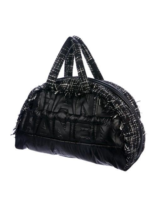 78e26046beee Chanel 2018 Large Tweed Doudoune Bowling Bag - Handbags - CHA317062 ...