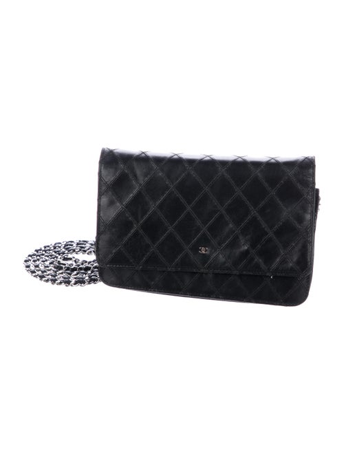 Chanel Diamond Stitch Wallet On Chain Black