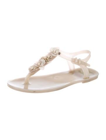 612b9f9b937 Chanel. CC Rubber Thong Sandals