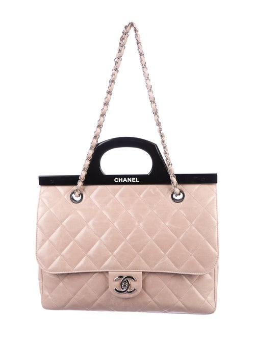 afd5553d6f41 Chanel Small CC Delivery Tote - Handbags - CHA321637 | The RealReal