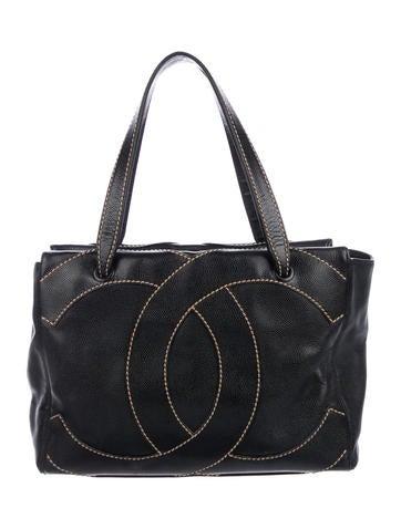 d9c0e5facaf6 Chanel CC Surpique Tote - Handbags - CHA323609   The RealReal