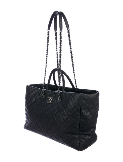 3d976254333641 Chanel Lizard-Trimmed Coco Handle Tote - Handbags - CHA325876 | The ...