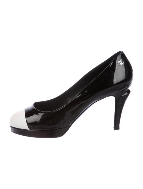 821b21cea01 Chanel Patent Leather Cap-Toe Pumps - Shoes - CHA326967