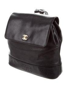 19c5f2b1aac641 Chanel. Vintage CC Caviar Backpack