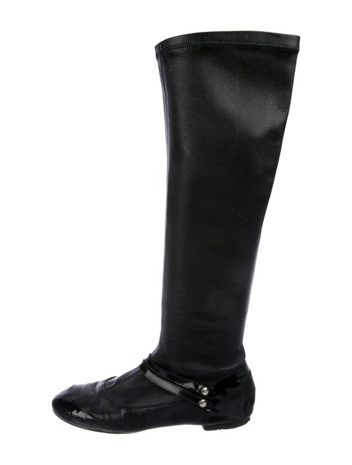 ddc22ba750f Chanel Leather Knee-High Boots - Shoes - CHA332699