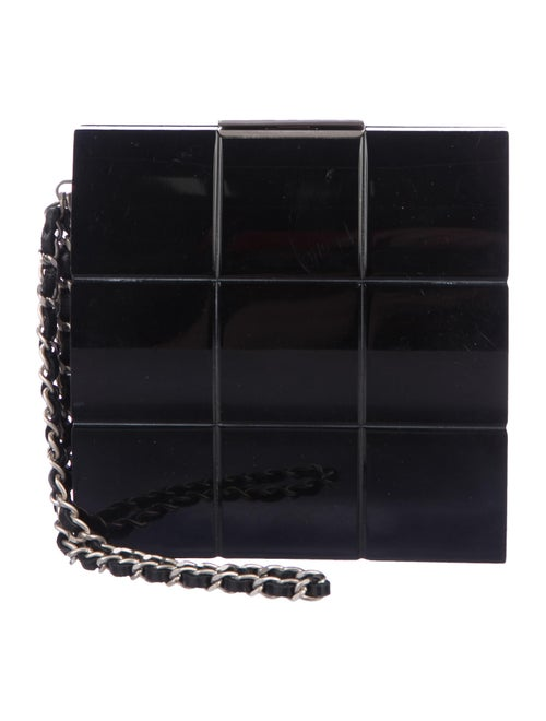 Chanel Lucite Box Clutch Black - image 1