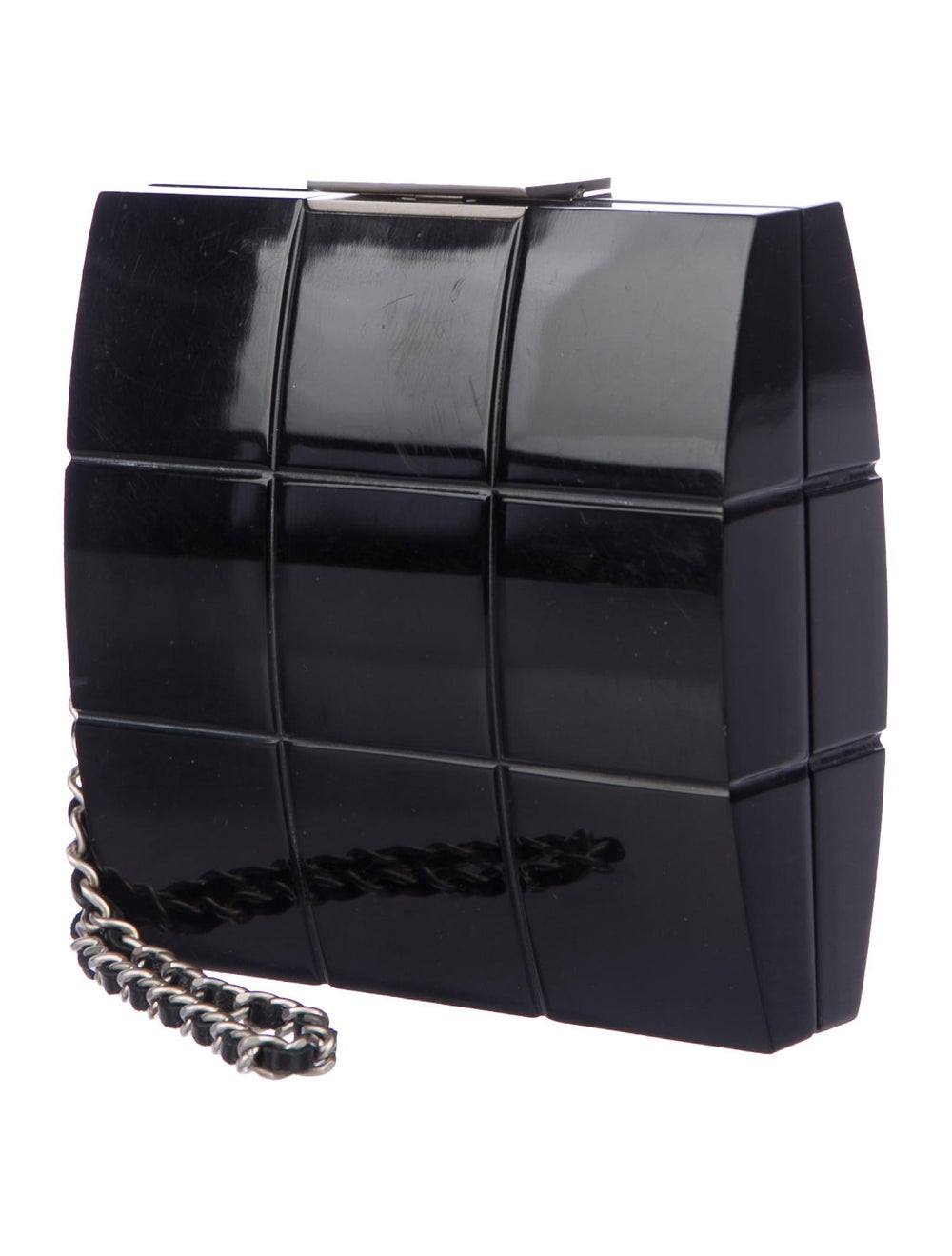 Chanel Lucite Box Clutch Black - image 3