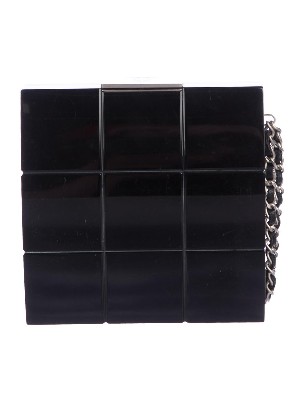 Chanel Lucite Box Clutch Black - image 4