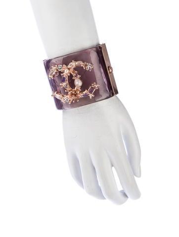 Crystal CC Lucite Cuff