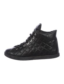 23be6a9883ae Chanel. Quilted Leather Sneakers