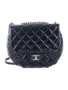 0baf40d1d7a0 Camellia Quilted Flap Bag.  1