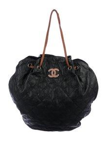 ad4ddd2d6b75 Chanel. Cocomark Drawstring Bag
